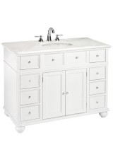 Hermath Single Vanity Marble top 130W