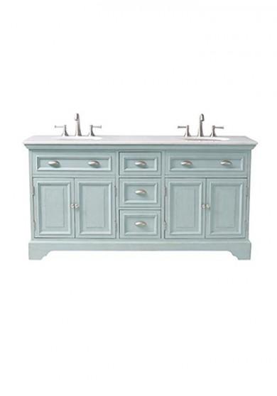 2100 Bathroom Vanity: Saide Double Bathroom Vanity Marble Top 180W