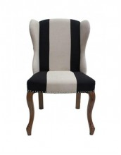 Napolean Striped Wingback Chair
