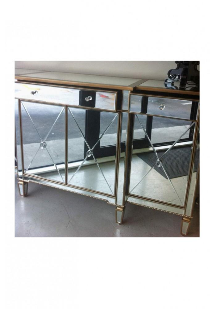 Abnert Mirrored Buffet Sideboard Tv Unit 178cm