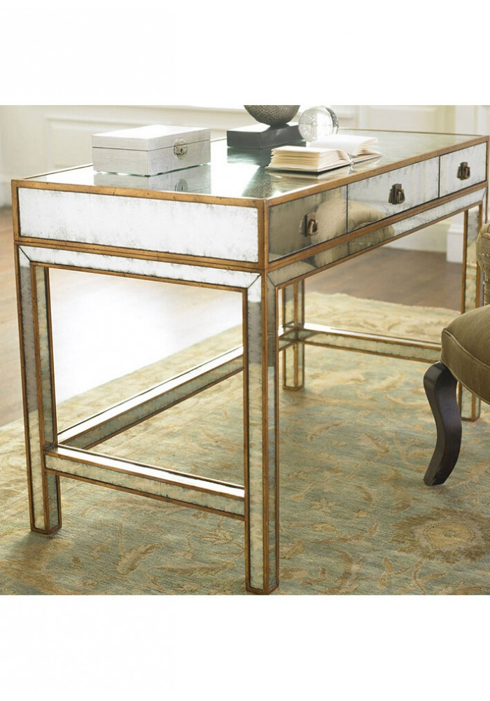 Daphne Mirrored 3 Drawer Console Table 110cm