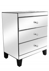 Clifton Mirrored Bedside Table with Single knob 60cm