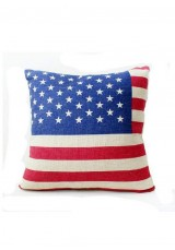 Flag Print Cushion