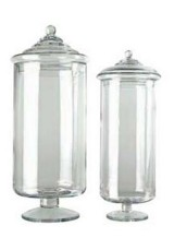 987 Apothecary Clear Glass Jar With Lid