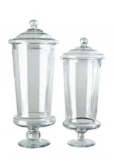 988 Apothecary Clear Glass Jar With Lid  Large Size