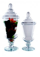 028 Glass Apothecary Jar With Lid Small