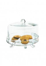 827 Glass Cake Stand With Lid