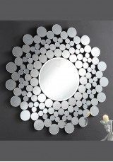 Sunflower Design Round Mirror Ø110cm