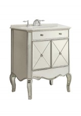 Adelisa Mirrored Single  Vanity 75CM Marble Top