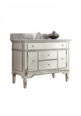 Austin Mirriored Single Vanity 110W  Marble Top