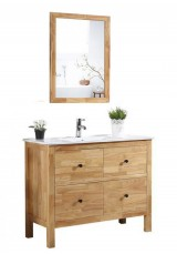 Dara Single Vanity Ceramic Top 120cm With Wall Mirror