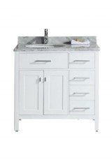 Eliment Single Vanity Left Sink Marble Top 95W