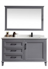 Elwood Single Vanity  Marble Top 120cm With Wall Mirror