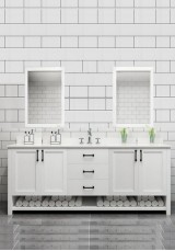 Eman Double Vanity Marble Top 160cm with Mirror