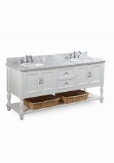 Alicia Double Vanity W183cm - Stone Top