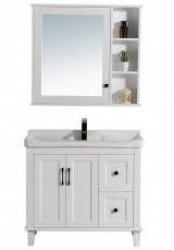 Flavia Single Vanity  Ceramic top 120W With Wall Unit
