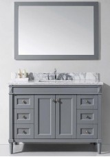 Gail Single Vanity Marble Top 150cm with Wall Mirror
