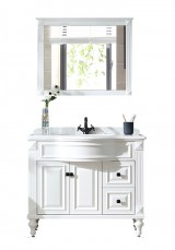 Gazit Single Vanity W100cm Marble topwith Mirror