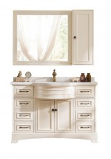 Gazit Single Vanity Marble top 120cm With Mirror Cabinet