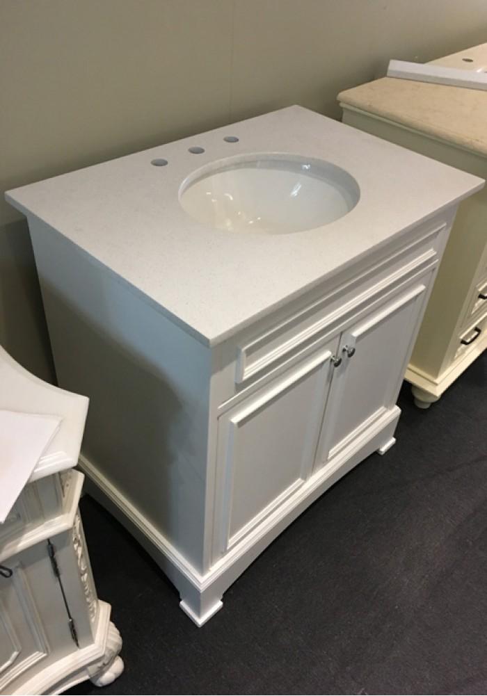 Giada Single Vanity 80cm Marble Top
