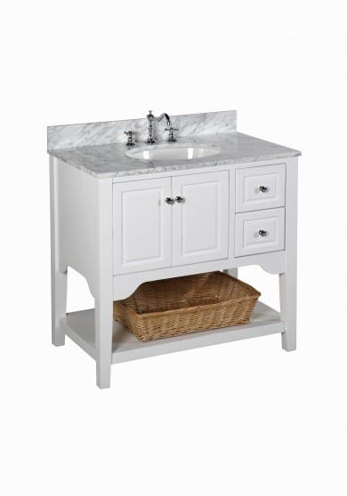 Irine Single Vanity W91cm - Engineered Stone Top