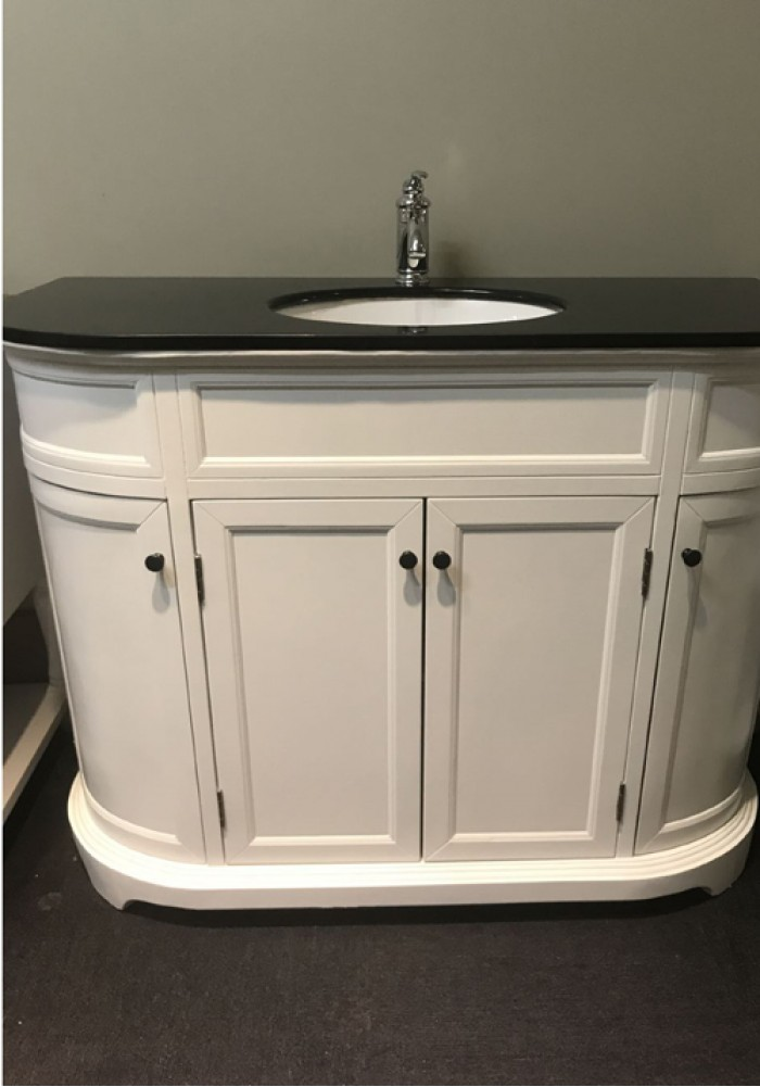 Jenson Curved Single Vanity 116cm Marble Top