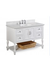 Machiko Single Vanity W121cm - Stone Top