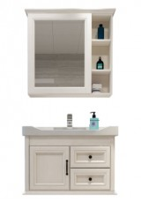 Meira Single Vanity W82 Ceramic Integrated Top