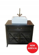 Dereck Single Vessel Sink Vanity W85cm