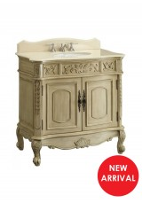 Celsea Antique Single Vanity W92cm - Stone Top