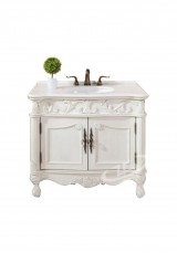 Hampton Single Vanity 90cm Marble top