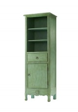 Keys Antique Style Linen Tall Cabinet H176cm