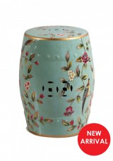 Angela Oriental Ceramic Stool or Side table H45cm