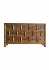 Daire Chinese Antique Multi Drawer Chest 142cm