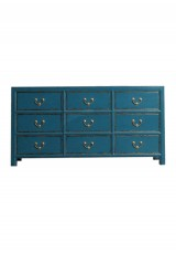 Abana Chinese Style Retro 9 Drawer Chest 180cm
