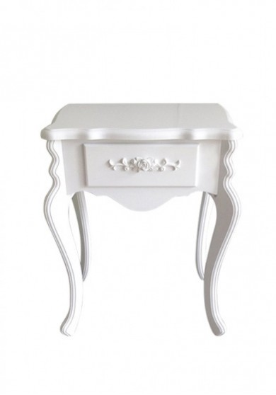 Adolfo White French Bedside Table
