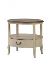 Claudia 1 Drawer Round Side Table