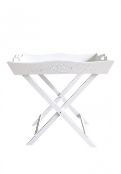 Gracie Tray Table White