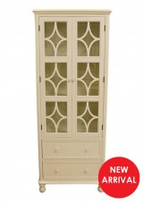Harun Display Tall Cabinet - Double door