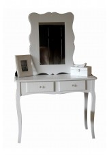 White Shiny PU Dressing Table Set W100 - Croc Skin