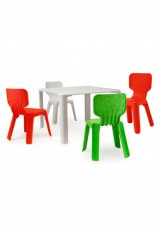 Replica Alma kids chair + table 3 piece set