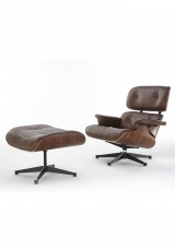 Replica Eames Lounge Chair - Premium full leather antique version