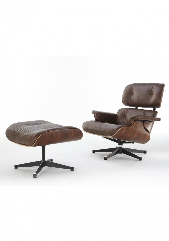 replica eames lounge chair premium full antique leather version