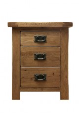 Alisha Bedside Table W50cm - Solid Oak