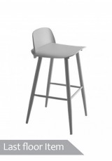 Elisa Bar Stool H75cm *Clearance Item* White / Grey