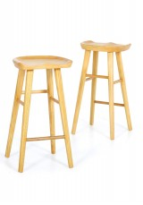 Jamal Solid Wood Bar Stool SH65cm