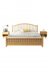 Anjel Solid Wood Full Bed - Queen