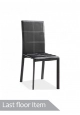 Lena quilted dining chair. Black *Last 1 Floor Item*
