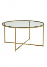 Asia Glass Round Coffee Table Dia60cm