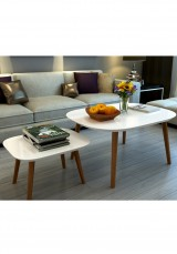 Rabi White Coffee Table Set of 2